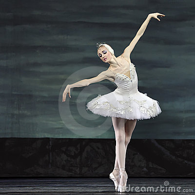 Swan lake ballet performed by russian royal ballet Editorial Photo