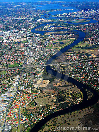 Free Swan River Aerial View 2 Stock Photos - 705663