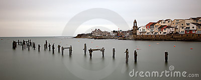Swanage town coastline