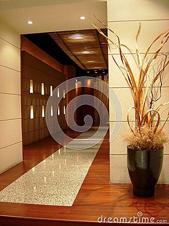 Swanky marble lobby