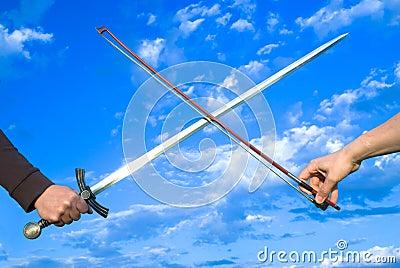 Sward and bow