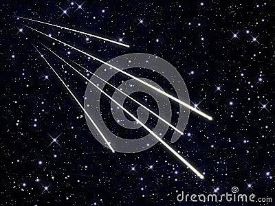 Swarm of meteors
