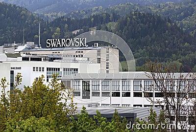 Swarovski factory Editorial Photography