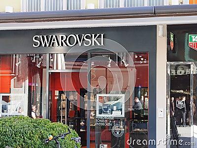 Swarovski store Editorial Stock Image