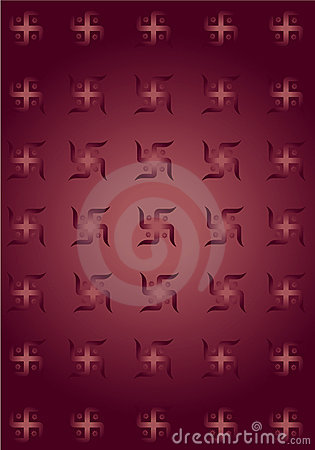 Swastik symbol texture background !
