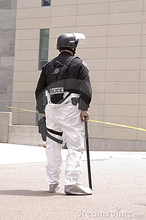 SWAT Haz-Mat-one officer