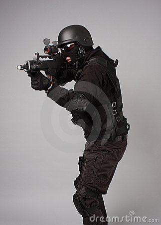 Free SWAT Police Officer Stock Image - 12392171