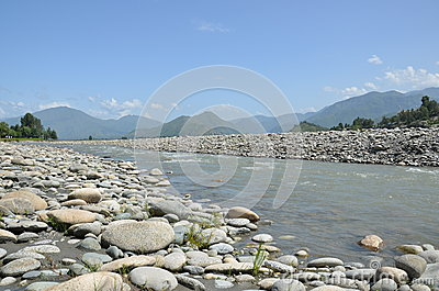Swat River in Northern Pakistan