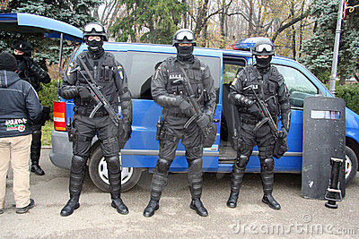 SWAT team display Editorial Stock Image