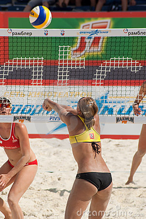 SWATCH FIVB WORLD TOUR 2011 - Moscow Grand Slam Editorial Stock Image