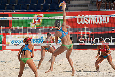 SWATCH FIVB WORLD TOUR 2011 - Moscow Grand Slam Editorial Stock Photo