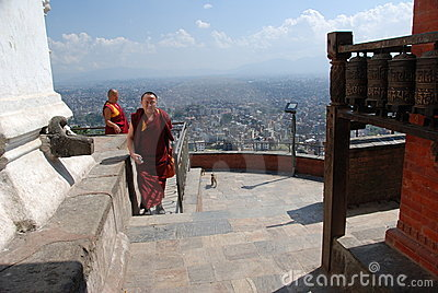 Swayambhunath temple in Nepal Editorial Stock Photo