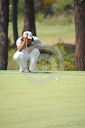 Swe johan гольфа edfors Редакционное Стоковое Фото