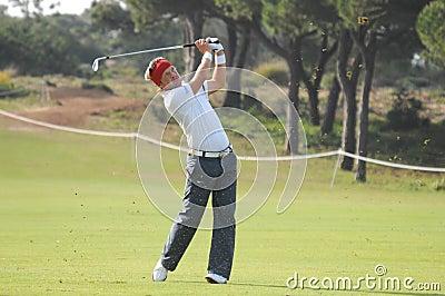 Swe pelle гольфа edberg Редакционное Стоковое Изображение