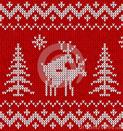 Sweater with deer