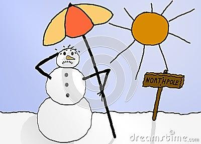 Sweating snowman