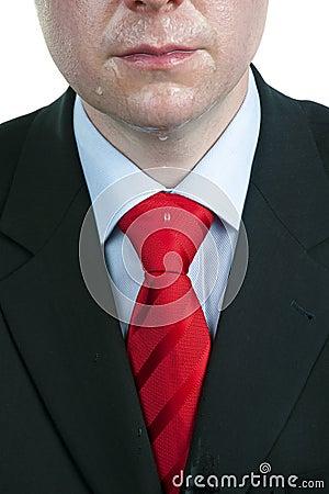 Sweaty Businessman