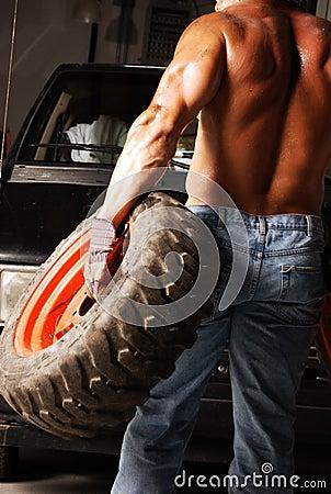 Sweaty Mechanic back