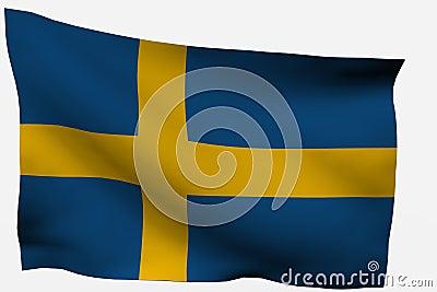 Sweden 3d flag
