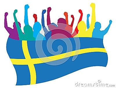 Sweden fans illustration