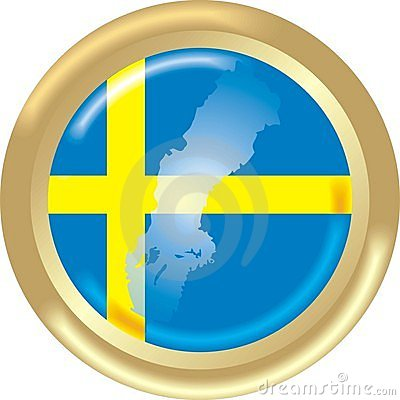 Sweden map and flag