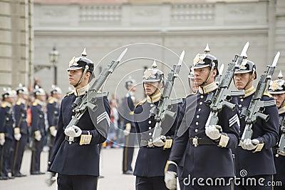Sweden Royal Guard Editorial Image