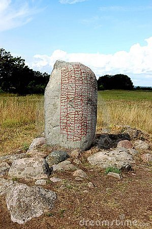 Sweden Stone with rune inscription