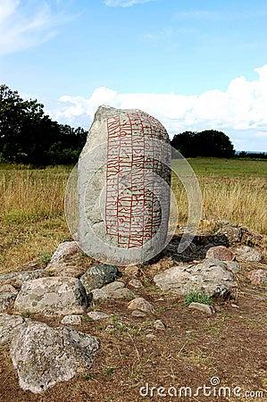 Sweden Stone with rune inscription