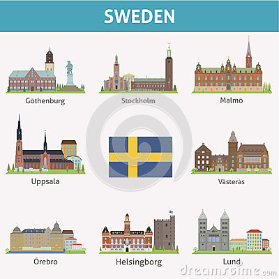Free Sweden. Symbols Of Cities Royalty Free Stock Photography - 37609407