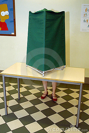 SWEDES POLLING STATIONS Editorial Stock Image