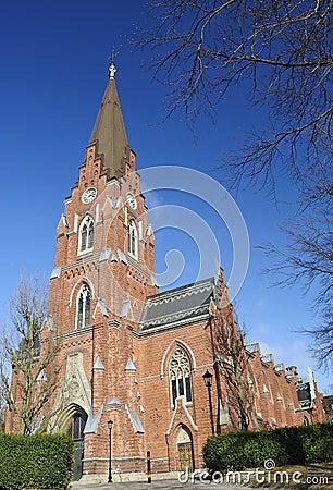 Swedish church - entry view