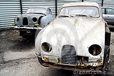 Swedish Classic Cars - In the Junk Yard