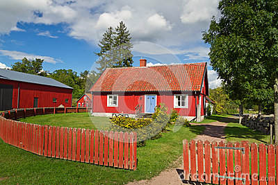 Swedish cottage house