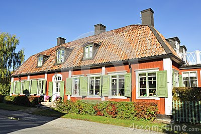 Swedish country house Editorial Stock Image