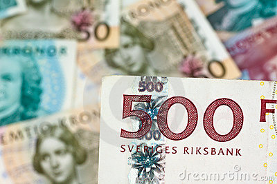 Swedish crowns. Swedish currency