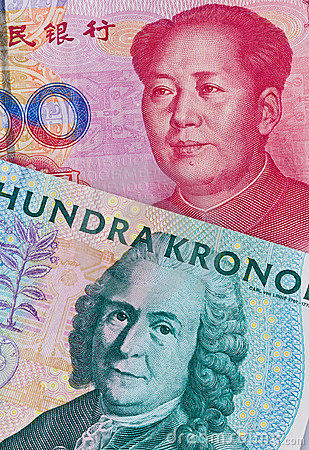 Swedish crowns and Yuan