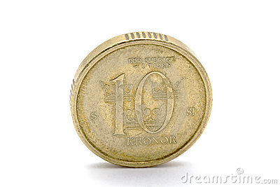 Swedish currency - 10 Kronor