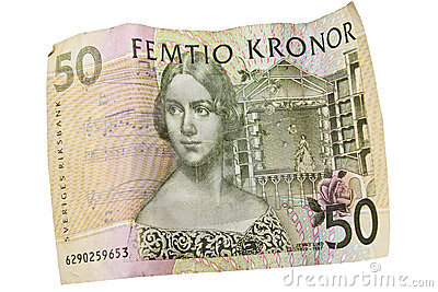 Swedish currency with theater theme
