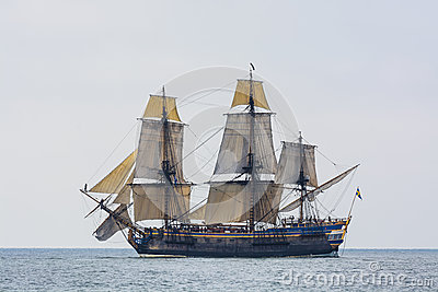 Swedish East Indiaman replica Götheborg Editorial Stock Image