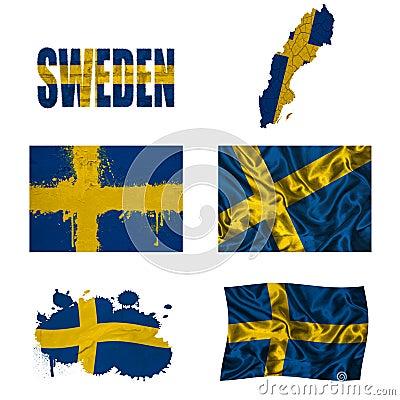Swedish flag collage