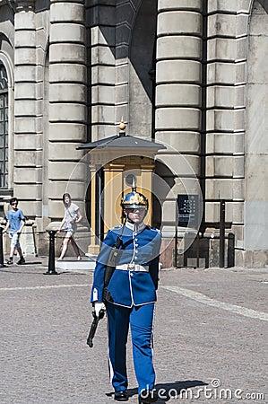 Swedish guard Editorial Image