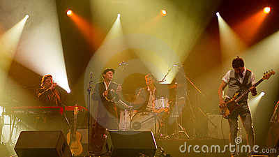 Swedish jazz-pop band Bo Kaspers Orkester live Editorial Photo
