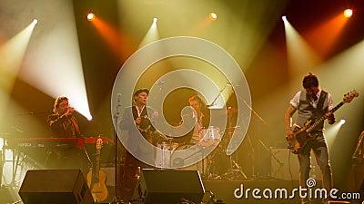 Swedish jazz-pop band Bo Kaspers Orkester live Editorial Photo