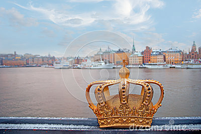 Swedish kingdom golden crown