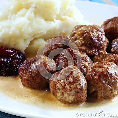 Swedish Meatballs Royalty Free Stock Photos - Image: 30065598