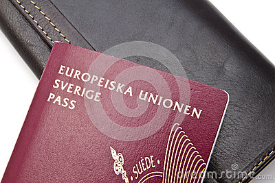 Swedish Passport and Wallet