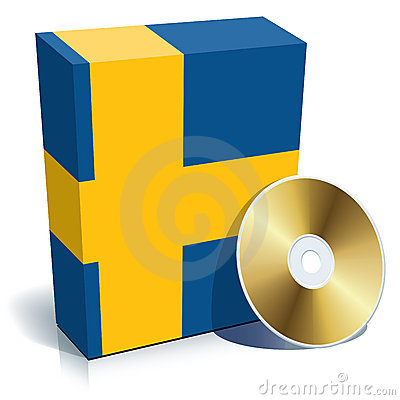 Swedish software box and CD