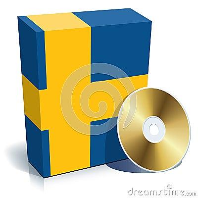 Swedish software box and CD