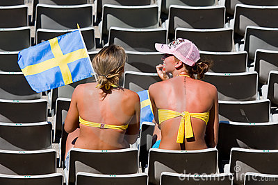 Swedish supporters Editorial Stock Photo