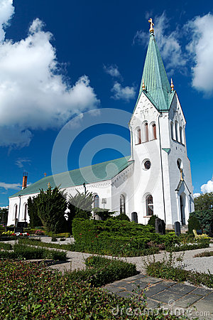 Swedish white church
